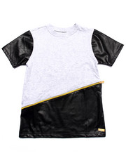 Boys - HERRINGBONE EMBOSSED CUT & SEW TEE (8-20)