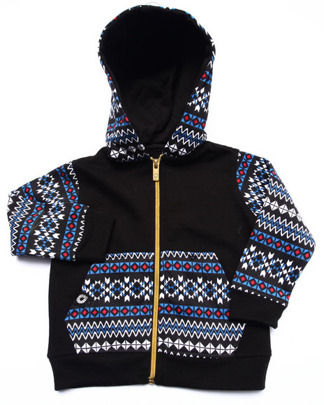 Akademiks - Boys Black Aztec Full Zip Hoody (Infant) - $27.99