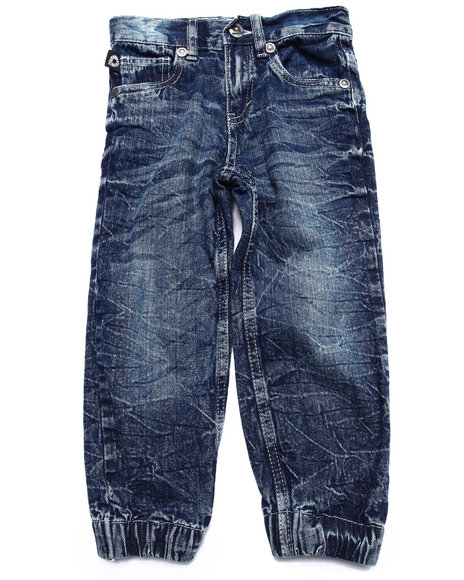 Akademiks - Boys Medium Wash Denim Joggers (4-7)