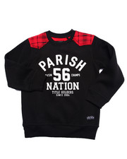 Parish - PLAID YOKE SWEATSHIRT (4-7)