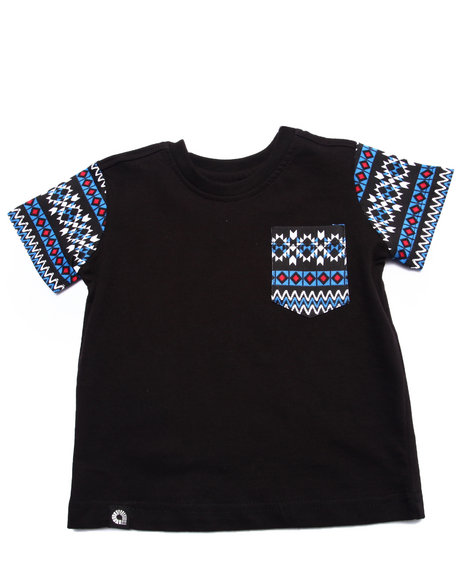 Akademiks - Boys Black Aztec Pocket Tee (Infant) - $22.99