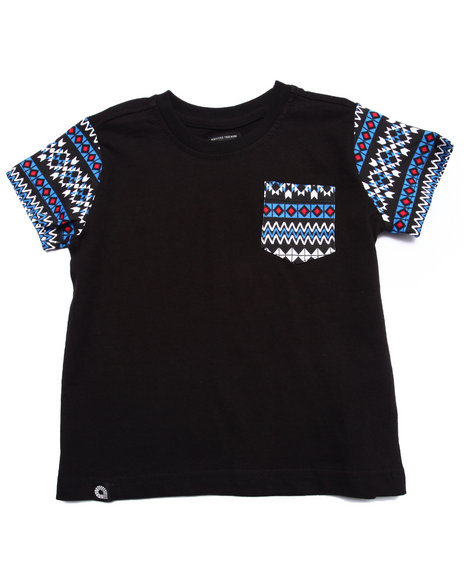 Akademiks - Boys Black Aztec Pocket Tee (2T-4T) - $26.99