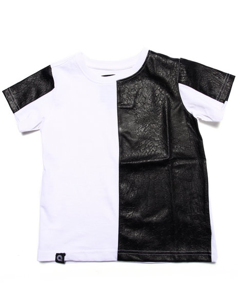 Akademiks - Boys White Cut & Sew Tee (4-7)