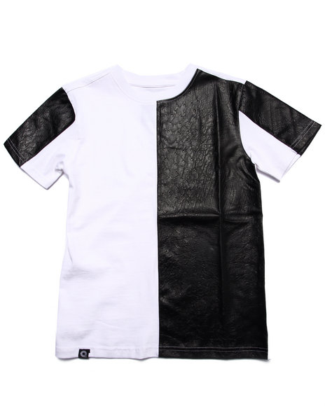 Akademiks - Boys White Cut & Sew Tee (8-20)