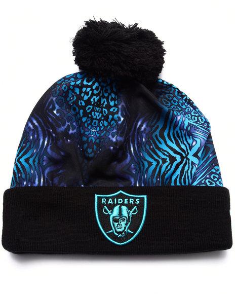 New Era Men Oakland Raiders Jungle Freak Knit Hat Blue