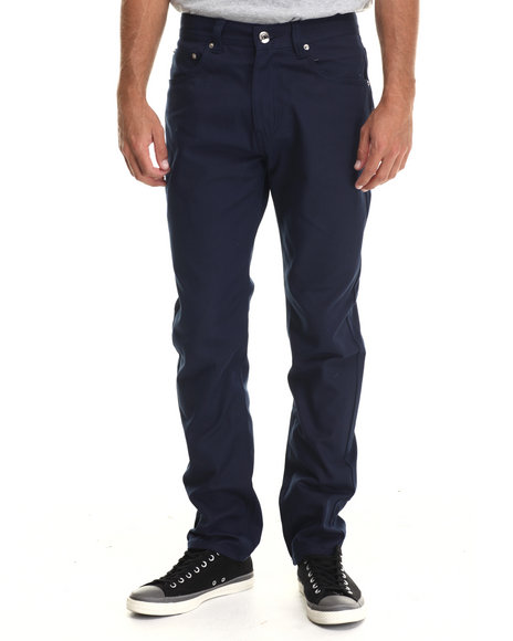 Buyers Picks - Men Navy Taper Fit Oxford Pants