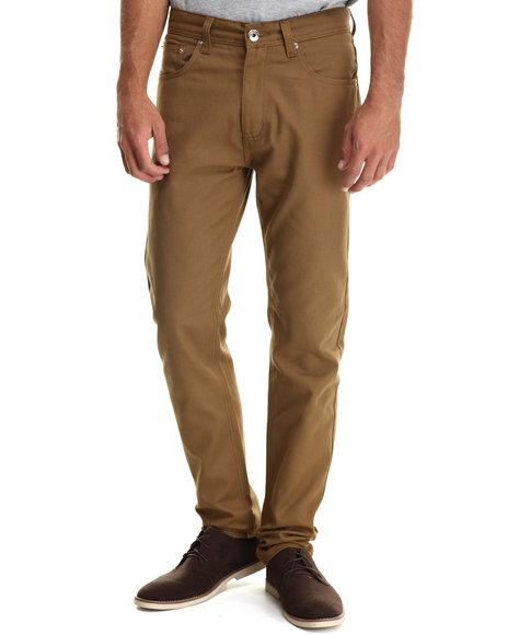 Buyers Picks - Men Tan Taper Fit Oxford Pants
