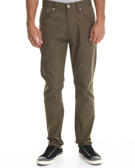 Ur-ID 199470 Buyers Picks - Men Olive Taper Fit Oxford Pants