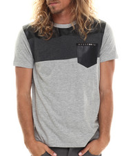 Men - Faux Leather pocket S/S Tee