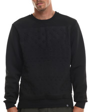 Men - Embossed Stud Crewneck Sweatshirt