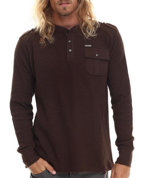 Buyers Picks - Men Brown Cascade Ii L/S Thermal Shirt - $25.00