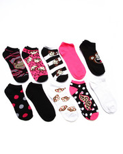 Accessories - Crazy Monkeys 10 Pk No Show Socks
