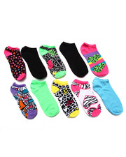 Women - Crazy Hearts 10 Pk No Show Socks