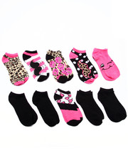 Accessories - Cheetah Expressions 10 Pk No Show Socks