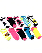 Accessories - Animal Mustache 10 Pk No Show Socks
