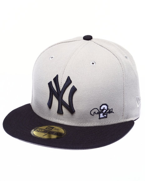 New Era - Men Grey New York Yankees Derek Jeter Commemorative Custom 5950 Fitted Hat