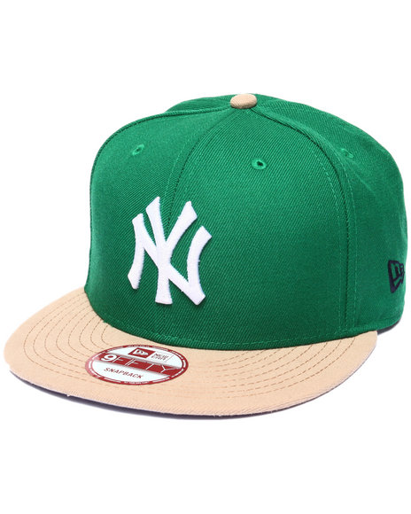 New Era Men New York Yankees Jeter Retired Custom Snapback Hat Green