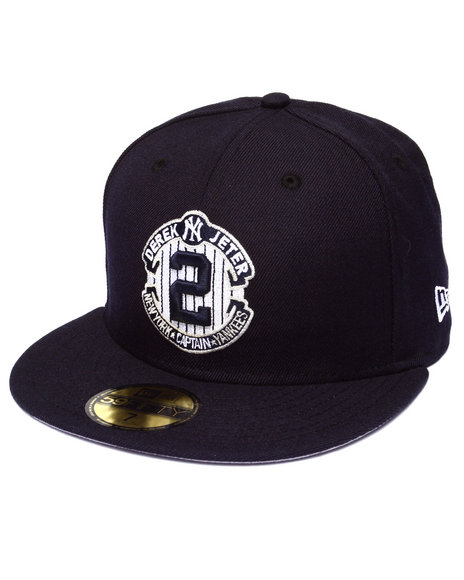 New Era - Men Navy New York Yankees Captain Jeter Commemorative 5950 Fitted Hat