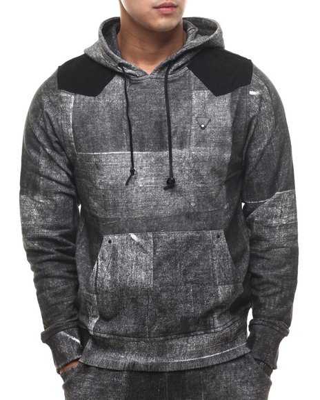 Parish - Men Black Cymk Printed Hoodie