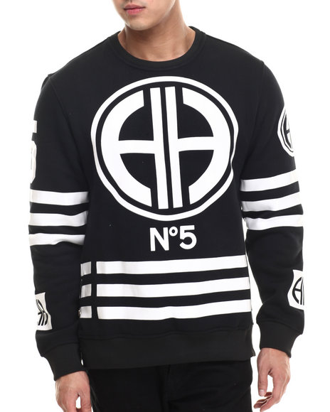Hudson Nyc - Men Black Channel Zero Crewneck Sweatshirt