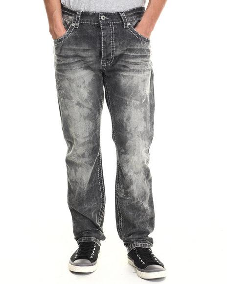 Parish - Men Black Washed Denim Jeans