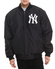 Men - New York Yankees Wool Varsity Jacket w/ faux leather sleeve detail (Reversible)