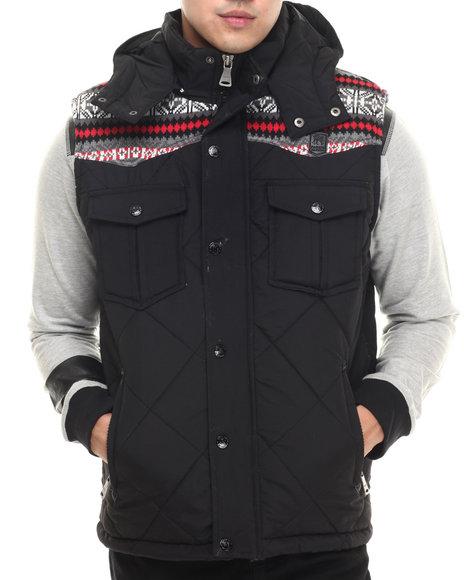 Parish - Men Black Quilted Bubble Vest