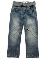 Bottoms - BELTED FLAP POCKET JEANS (4-7)