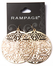 Rampage - Snowflake Large Circle Earrings