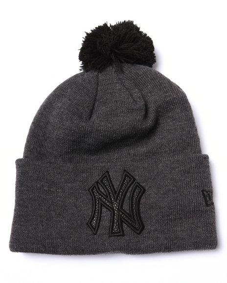 New Era Men New York Yankees Team Eclipse Knit Hat Black