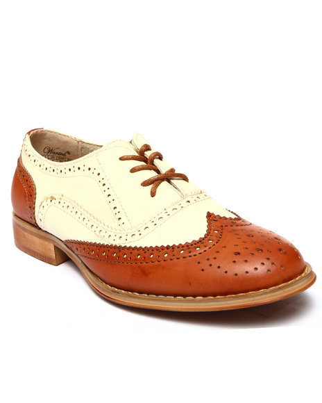 Fashion Lab - Women Tan,White Babe Two-Tone Oxford