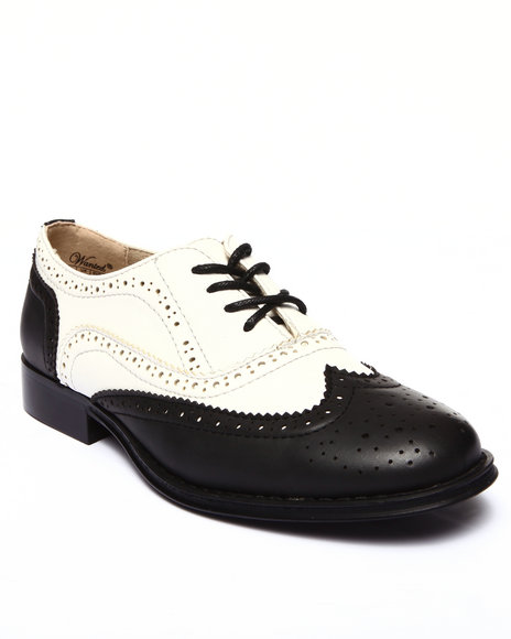 Fashion Lab - Women Black,White Babe Two-Tone Oxford