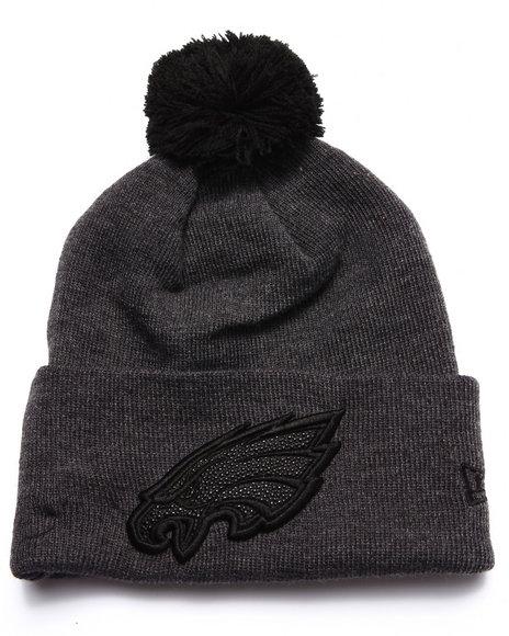 New Era Men Philadelphia Eagles Team Eclipse Knit Hat Black