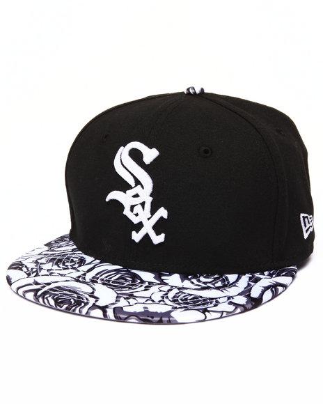 New Era - Men Black Chicago White Sox Satin Bloom 950 Strapback Hat