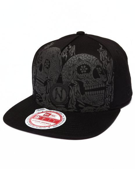 New Era - Men Black Muerte Dark Detail 950 A-Frame Snapback Hat