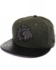 Men - Chicago Blackhawks Faux Leather Step Out 950 Strapback Hat