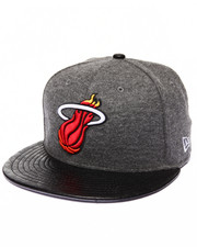 Men - Miami Heat Faux Leather Step Out 950 Strapback Hat