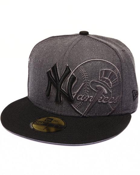 New Era - Men Black New York Yankees Team Screening Redux 5950 Fitted Hat