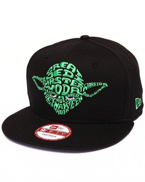 New Era - Men Black Yoda Star Wars Cabesa Word 950 Snapback Hat