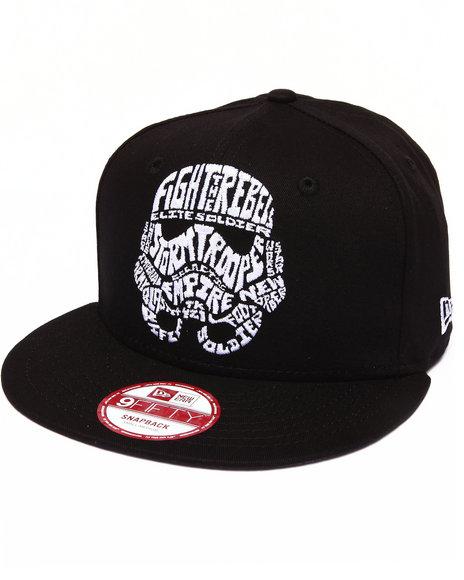 New Era - Men Black Storm Trooper Star Wars Cabesa Word 950 Snapback Hat