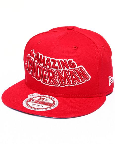 New Era - Men Black The Amazing Spiderman Monounder Snapback Hat (Glow In The Dark)