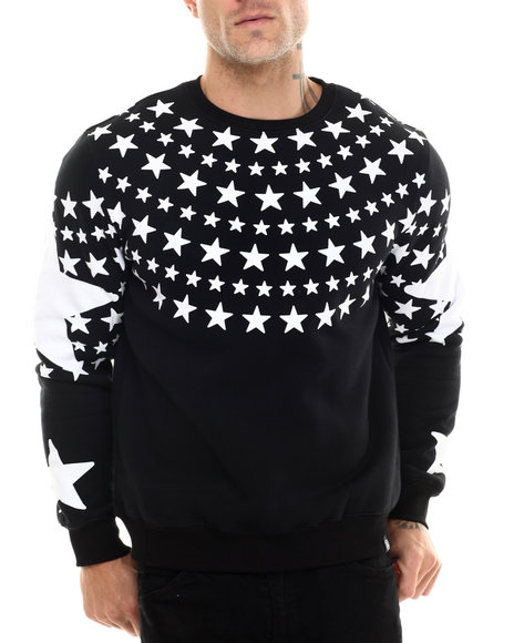 Hudson Nyc - Men Black L S D Crewneck Sweatshirt