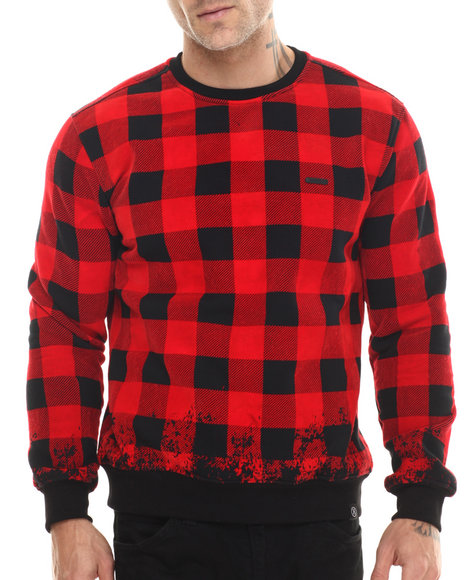 Hudson Nyc - Men Black,Red Disappearing Jack Crewneck Sweatshirt