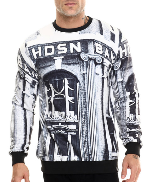 Hudson Nyc - Men Black Bank Street Crewneck Sweatshirt - $37.99
