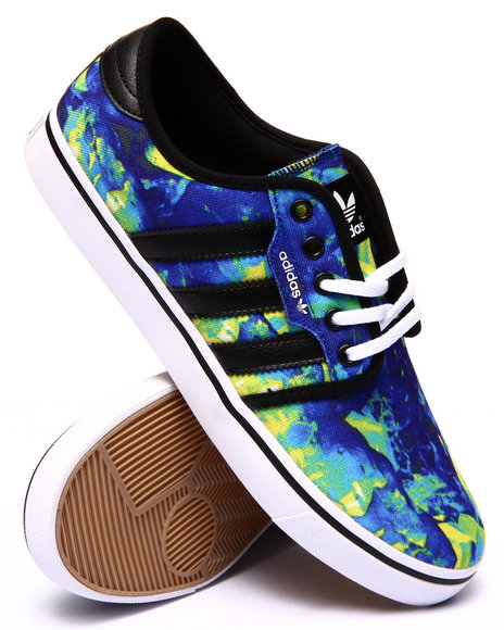 Adidas - Men Blue,Green Seeley Sneakers