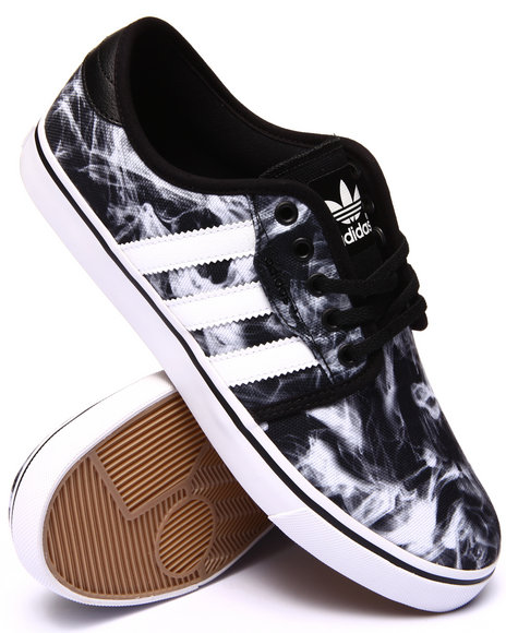 Adidas - Men Black,White Seeley Sneakers - $65.00
