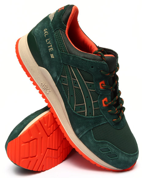 Asics - Men Green Gel Lyte Iii Sneakers