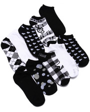 Accessories - Multi Pattern 10 Pk No Show Socks