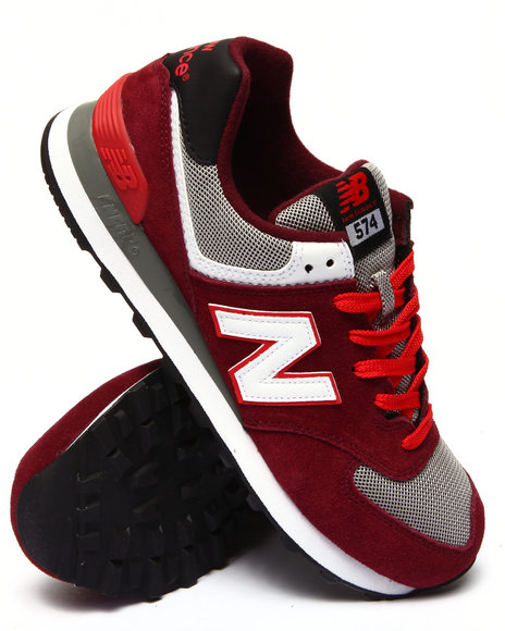 New Balance - Men Maroon 574 Core Lo