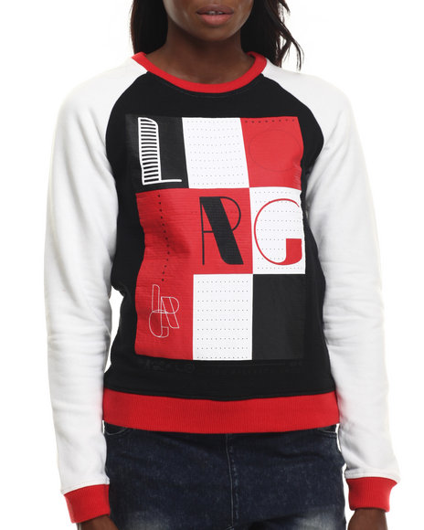 Lrg - Women Black L-Strike Colorblock Sweatshirt
